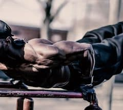 Hannibal For King at Street Workout Park doing Planche Pushups