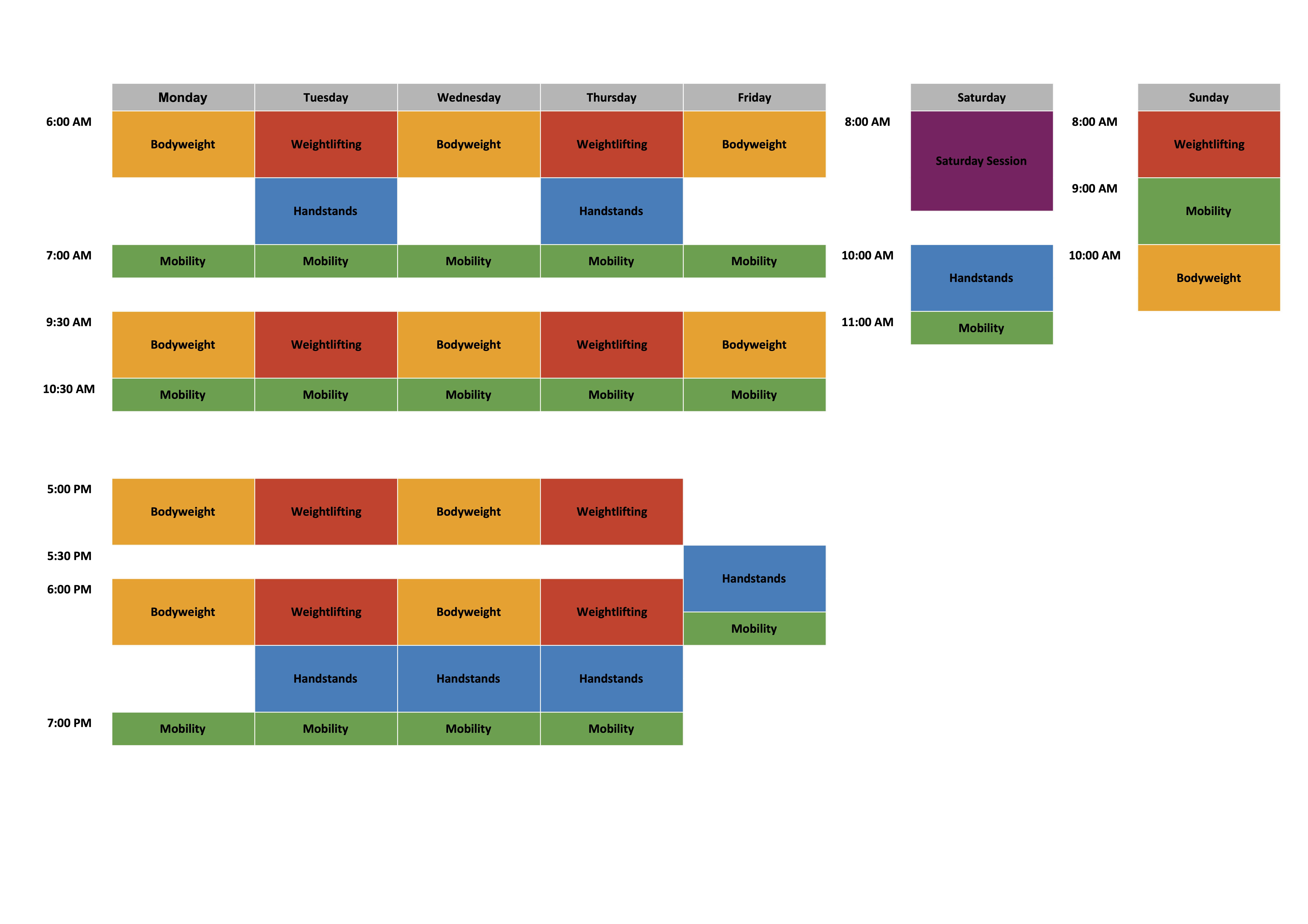 Class Schedule - March 2021 - Schedule-2